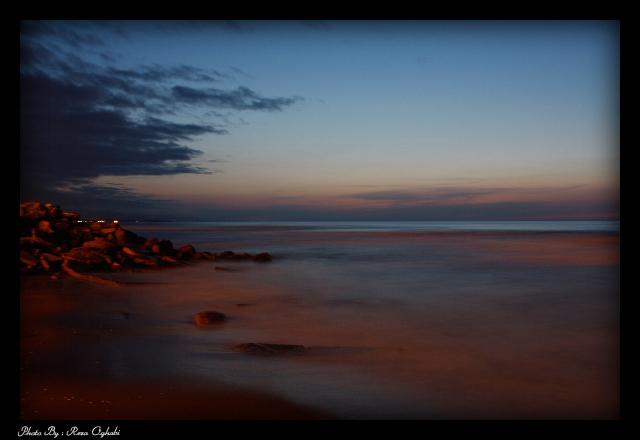 عکس منظره غروب دریا