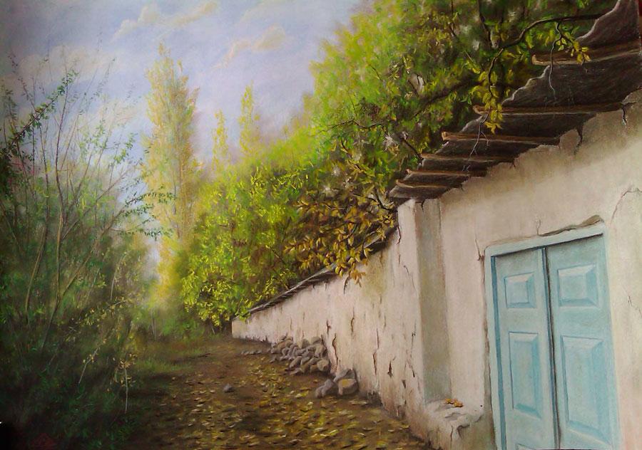 عکس نقاشی طبیعت ساده