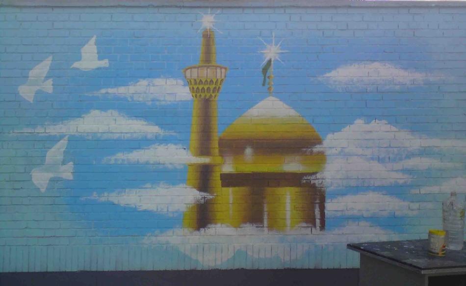 نقاشی روی درب مدرسه نقاشی روی دیوار مدرسه