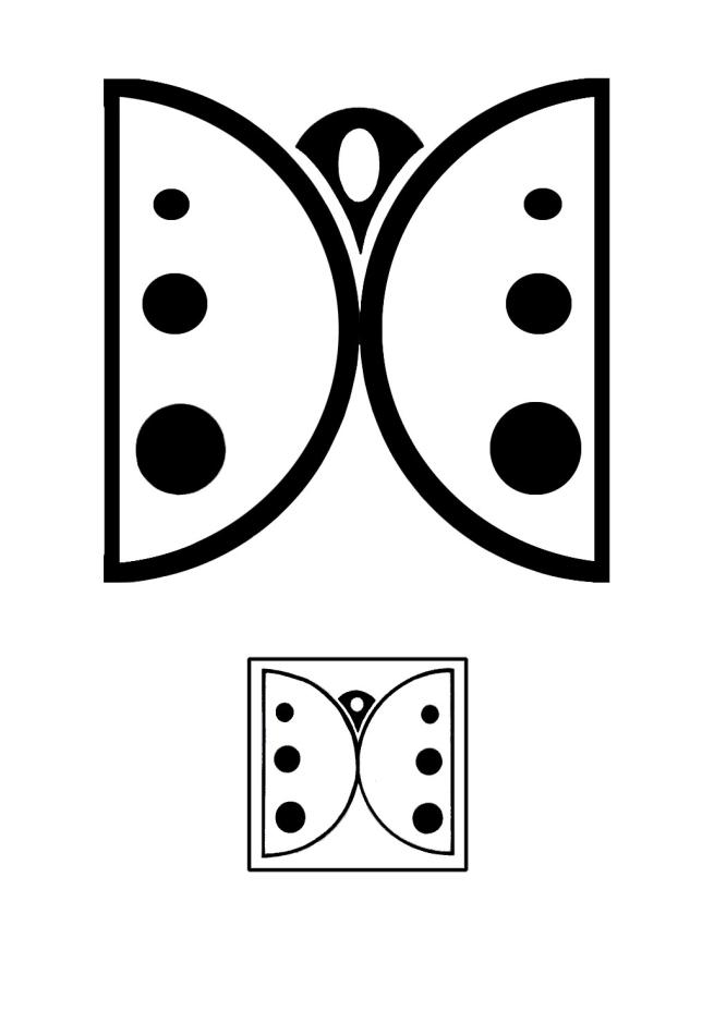 طراحی لوگو و آرم(دستی)باغ موزه پروانه ها.