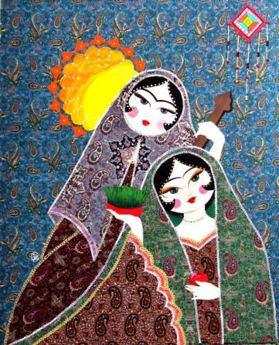طرح خاتون برای نقاشی خاتون خانم
