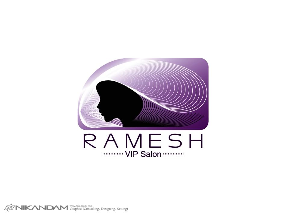 طراحی لوگوی سالن زیبایی عروس رامش